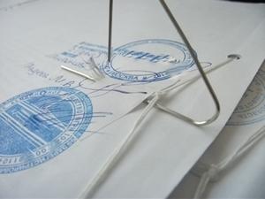 Сшив документов производят специальные фирмы или сами бухгалтера
