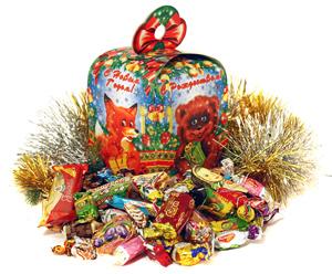 Новогодние наборы конфет