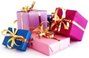Подарок можно упаковать различными способами