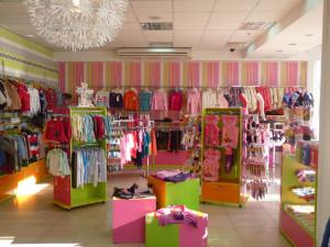 Помещение и оборудование магазина детской одежды