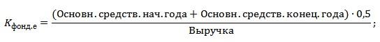 Как рассчитать фондоемкость по балансу