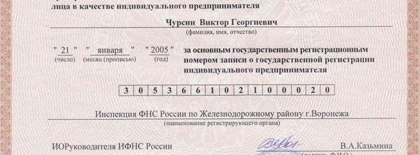 Расшифровка ОГРНИП