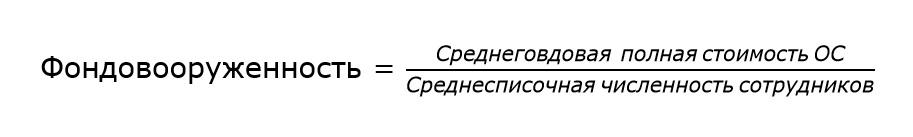 Формула фондовооружеенности